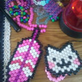 Pink Feather Necklace And Kitty Peyote!