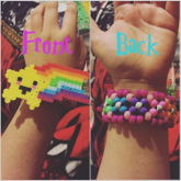 Smily Face Star W/ Rainbow X Base Cuff