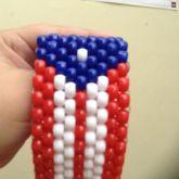 Puertorican Flag Cuff