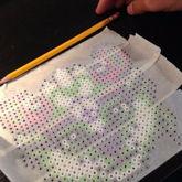 Perler Bead Masking Tape Method