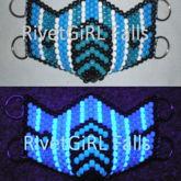 Blue Mortal Kombat D-Ring Kandi Mask