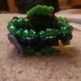 Small Turtle Perler Cuff (back)