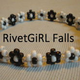 Black & White Daisy Flower Kandi Headband