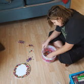 Woke Up To My Little Cousin Sorting My Beads