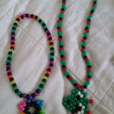 Yoshi Necklace And Rainbow Star Necklace
