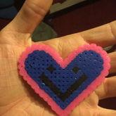 Perlerbead Smiing Heart