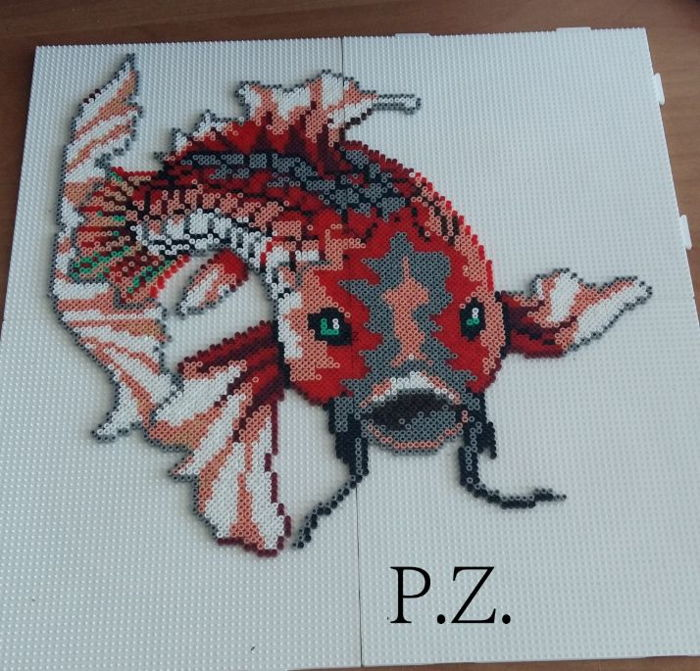 fisch mini hama beads by piazobel100 kandi photos on kandi patterns. Black Bedroom Furniture Sets. Home Design Ideas