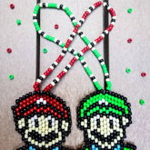 Mario And Luigi Necklaces
