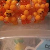 Orange Skull 3d Cuff