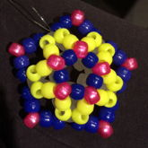 Yellow, Pink, And Blue 3D Star 1