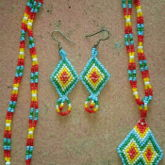 Native Diamonds Necklace And Earring Set