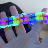 Rainbow Loom Double Color Changing Beaded Ladder With Pinstripes 1