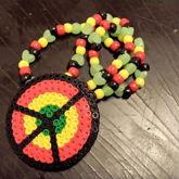Rasta Peace Symbol Necklace