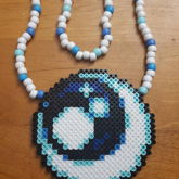 Moon And Stars Perler Necklace
