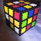 Perler Rubix Cube
