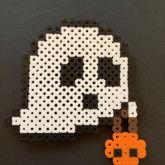 Trick Or Treat Ghost Perler