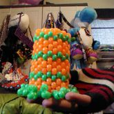 Orange And Green Mini Top Hat