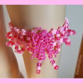 Fancy Pink Kandi Garter