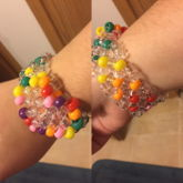 Rainbow 3D Heart Cuff