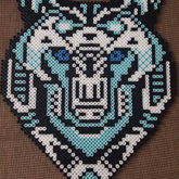 Tribal Wolf Perler