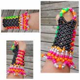 Neon Kandi Gloves