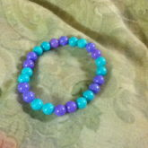 Teal And Lavender Round Single For Me