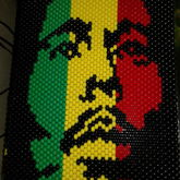 Bob Marley Peyote Stitch Panel