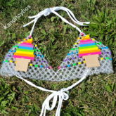 Rainbow Ice Cream Cone Kandi Bra
