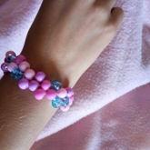 Purple, Pink & Sparkly Blue Kandi Cuff