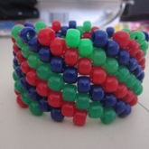 Blue, Red, And Green Diagonal Cuff