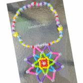 Rainbow Mandala Kandi Necklace