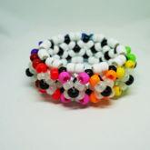 3D UFO Spider Rainbow Glow In The Dark Kandi Cuff Bracelet
