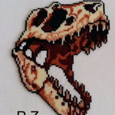 Dino-Skelett Mini Hama Beads