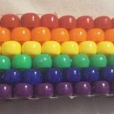 Basic Rainbow Peyote Cuff