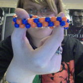 Blue & Orange Peyote Cuff