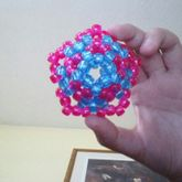 Sparkly Pink And Blue 3D Star