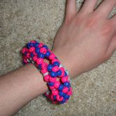 Purple And Pink Disc 3D Basic Cuff