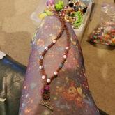 Hemp and pony bead with charm