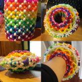 Rainbow Circus 3D Cuff