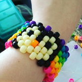 Rainbow And Cream Penguin Multi Stitch Cuff 2