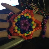 Big Rainbow Extended Star Hand Braceet