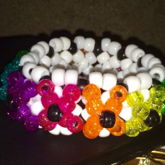 Black, White, And Glitter/sparkle 3D Cuff