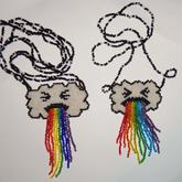 Cloud Puking Rainbow Necklaces