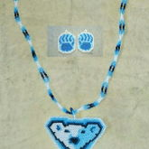 Polar Bear Necklace And Earring Set