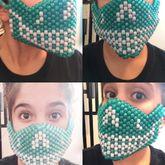 Skull Green/blue Kandi Mask
