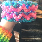 Pink and blue cuff