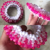 Pink/white 3D Goddess Cuff