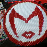 Scarlet Witch Logo [Peyote Stitch]