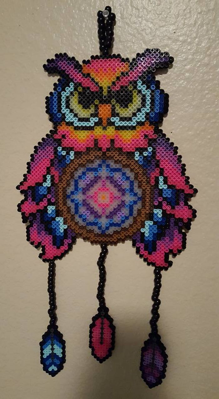 Beaded Dream Catchers Patterns Owl Dream Catcher perler by LadyRaveicorn Kandi Photos on Kandi 33