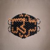 Rammstein Logo Inspired D-Ring Surgical Kandi Mask